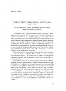 Povijest Društva hrvatskih književnika : 1900. - 1971. : iz arhiva Odsjeka za povijest hrvatske književnosti Hrvatske akademije znanosti i umjetnosti
