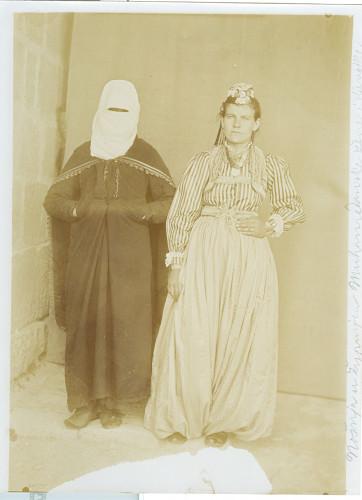 Muslimanska nošnja - sprijeda i straga [Nuić, Anđeo]