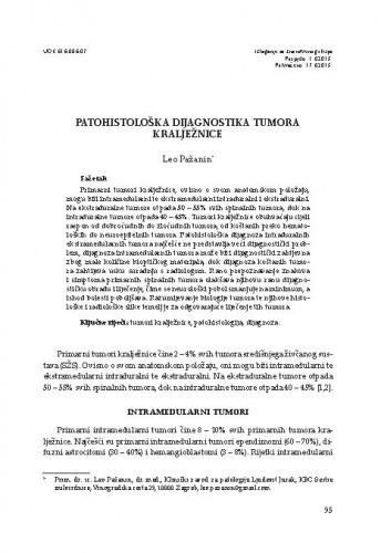 Patohistološka dijagnostika tumora kralježnice