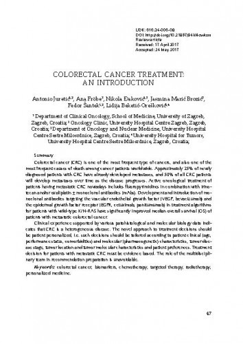Colorectal cancer treatment: An introduction