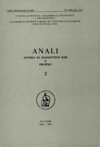Knj. 2(1982/1983) / urednik Josip Roglić