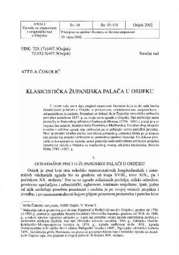 Klasicistička županijska palača u Osijeku / Attila Čokolić