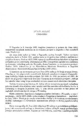 Ivan Jelić (1933-1992) / Hodimir Sirotković
