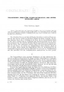 Vollkomen zirkuläre Fusspunktskurven der Hyperbolischen Ebene / Vlasta Szirovicza