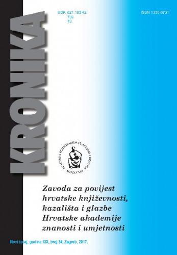 N. t. god. 19, br. 34(2017) : Kronika Zavoda za povijest hrvatske književnosti, kazališta i glazbe HAZU
