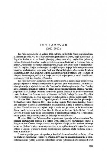 Ivo Padovan (1922.-2010.) : [nekrolog] / Zvonko Kusić