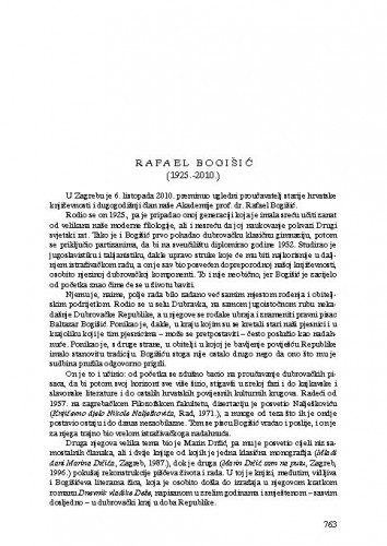 Rafael Bogišić (1925.-2010.) : [nekrolog] / Pavao Pavličić