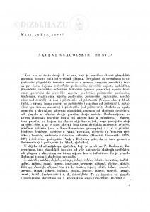 Akcent glagolskih imenica / M. Stojković