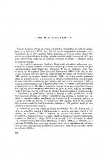 Hodimir Sirotković : [biografije novih članova Akademije]