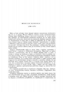 Marijan Haberle (1908-1979) : [nekrolozi] / J. Seissel
