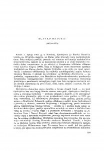 Slavko Batušić (1902-1979) : [nekrolozi] / M. Matković
