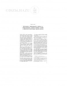 Povijesna topografija Senja (I) : urbanistički odnos rimske Senie i srednjovjekovnog grada Senja / M. Viličić