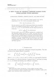A new class of general refined Hardy-type inequalities with kernels / Aleksandra Čižmešija, Kristina Krulić, Josip Pečarić