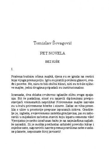 Pet novela / Tomislav Šovagović