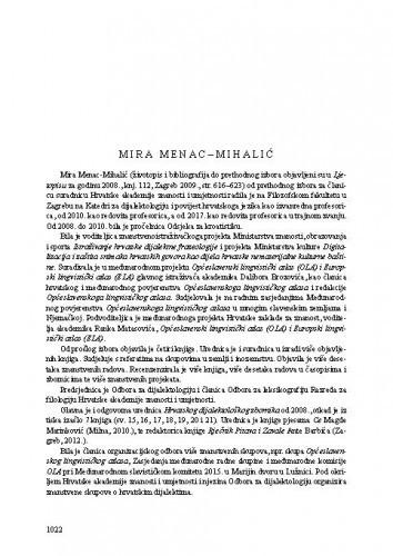 Mira Menac-Mihalić