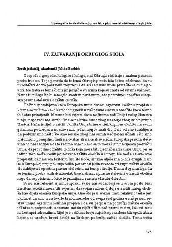 Zatvaranje Okruglog stola / Jakša Barbić