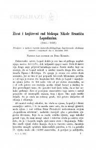 Život i književni rad biskupa Nikole Brautića Lopuđanina (1566-1632.) / Đ. Körbler