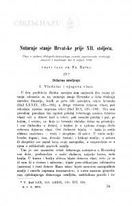 Nutarnje stanje Hrvatske prije XII. stoljeća : IV. / F. Rački