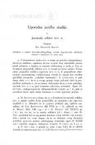 Usporedne jezičke studije : <1.>Jermenski refleksi ievr. o. / H. Barić