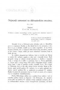 Najstariji samostani na dalmatinskim otocima / Ć. M. Iveković
