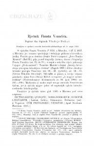 Rječnik Fausta Vrančića / V. Dukat