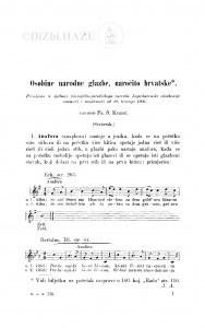Osobine narodne glazbe, naročito hrvatske : (svršetak) / F. Š. Kuhač