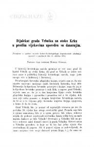 Dijalekat grada Vrbnika na otoku Krku u prošlim vijekovima upoređen sa današnjim / R. Strohal