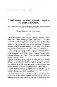Priorat vranski sa vitezi templari i hospitalci sv. Ivana u Hrvatskoj / I. Kukuljević Sakcinski