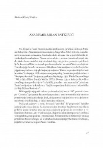 Akademik Milan Ratković