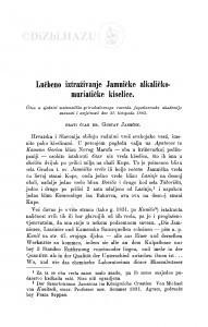 Lučbeno iztraživanje Jamničke alkaličko-muriatičke kiselice / G. Janeček