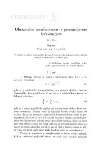Ultrazvučni interferometar s promjenjivom frekvencijom / V. Lopašić