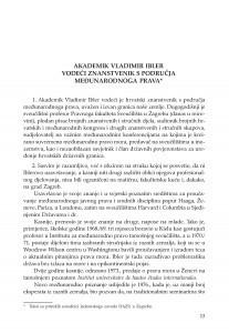Akademik Vladimir Ibler vodeći znanstvenik s područja međunarodnoga prava