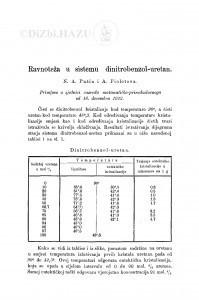 Ravnoteža u sistemu dinitrobenzol-uretan / N. A. Pušin i A. Fioletova