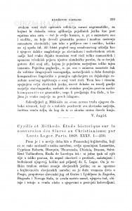 Cyrille et Méthode. Étude historique sur la conversion des Slaves au Christianisme; Par Louis Leger. Paris, 1868 : [književna obznana] / F. Rački
