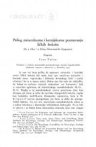 Prilog mineralnome i kemijskome poznavanju ličkih boksita / F. Tućan