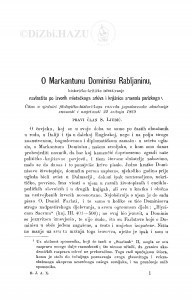 O Markantunu Dominisu Rabljaninu historičko-kritičko iztraživanje navlastito po izvorih mletačkoga arkiva i knjižnice arsenala parizkoga / S. Ljubić