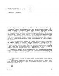 Tomislav Krizman / Smiljka Domac-Ceraj