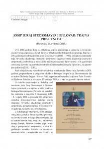 Josip Juraj Strossmayer i Bjelovar: trajna prisutnost (Bjelovar, 13. svibnja 2015.) / Vladimir Strugar
