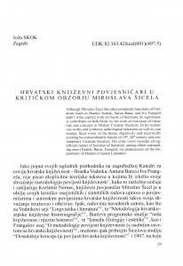 Hrvatski književni povjesničari u kritičkom obzorju Miroslava Šicela / Joža Skok