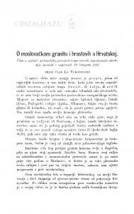 O moslovačkom granitu i hrastovih u Hrvatskoj / Lj. Vukotinović
