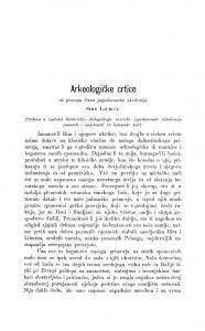 Arkeologičke crtice / S. Ljubić