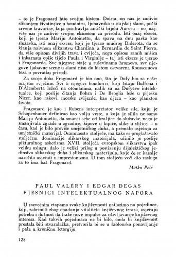 Paul Valéry i Edgar Degas pjesnici intelektualnog napora / Antun Polanšćak