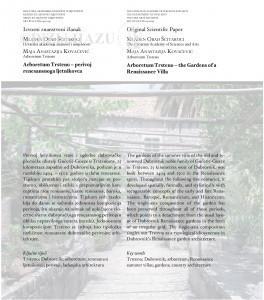 Arboretum Trsteno - perivoj renesansnoga ljetnikovca = Arboretum Trsteno - the gardens of a Renaissance villa / Mladen Obad Šćitaroci, Maja Anastazija Kovačević