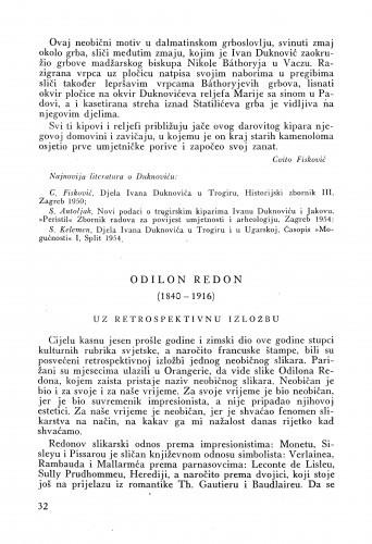 Odilon Redon (1840-1916) : uz retrospektivnu izložbu / Matko Peić