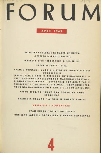 God. 2(1963), knj. 3, br. 4 / glavni i odgovorni urednik Marijan Matković