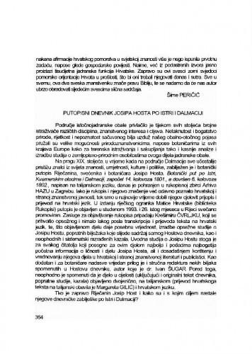 Putopisni dnevnik Josipa Hosta po Istri i Dalmaciji / Lovorka Čoralić
