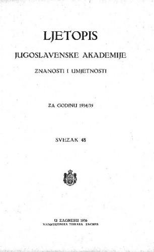 Za godinu 1934/35. Sv. 48