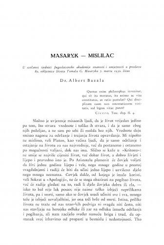 Masaryk - mislilac / A. Bazala