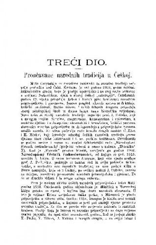 Proučavańe narodnih tradicija u Češkoj / D. Boranić