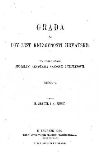 Knj. 4(1904) / uredili M. Šrepel i A. Musić